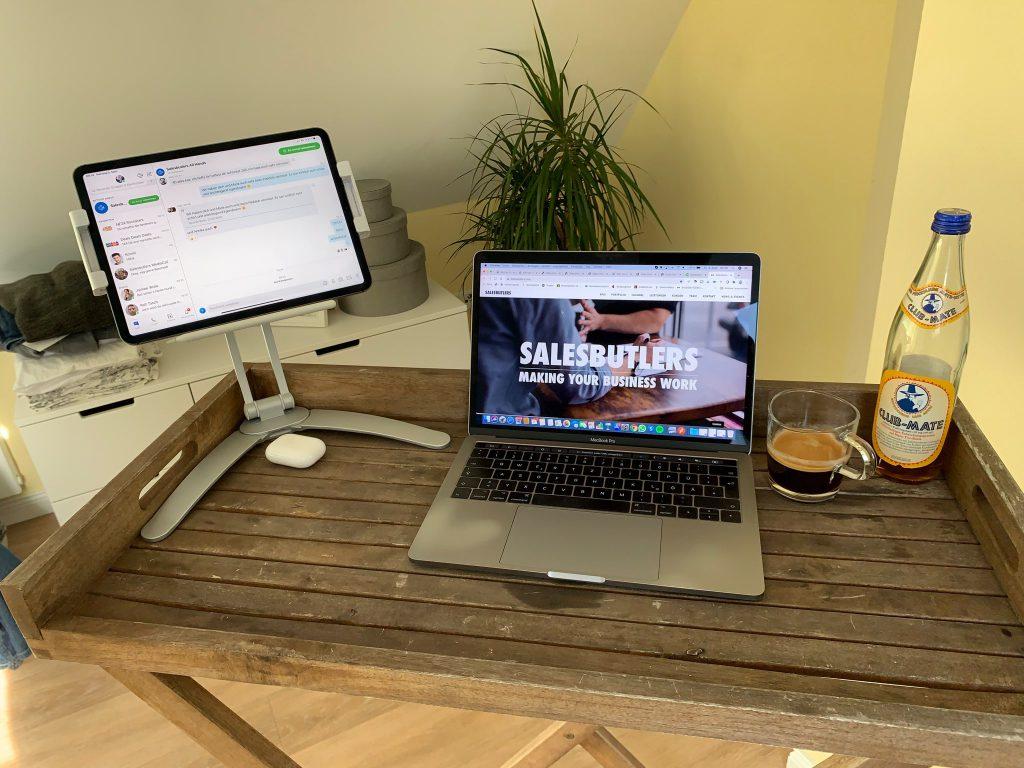 Home Office während Corona bei Salesbutlers