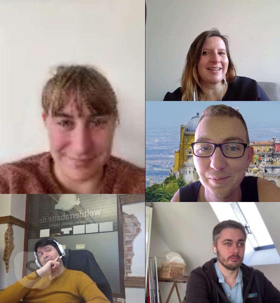 Videokonferenz während der Pandemie Salesbutlers